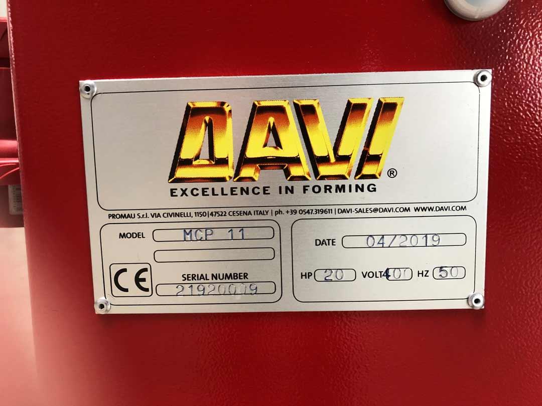 DAVI MCP 11 Profilbiegemaschine Typenschild