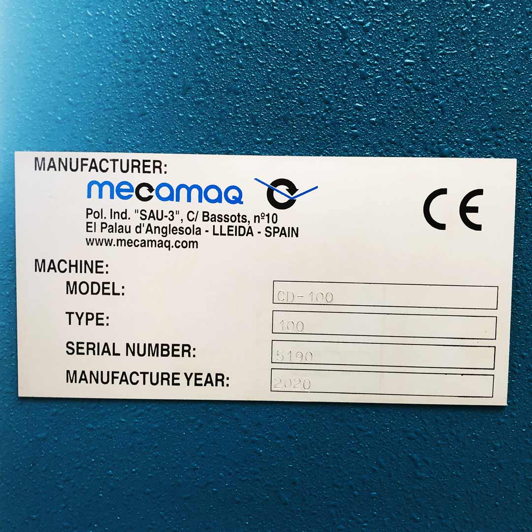 MECAMAQ CD-100 Werkstatt- oder Richtpresse Typenschild